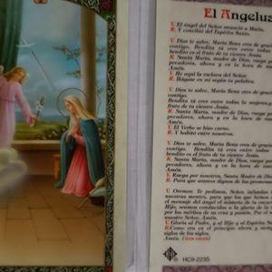 Prayer Card El Angelus SPANISH Laminated HC9-223S