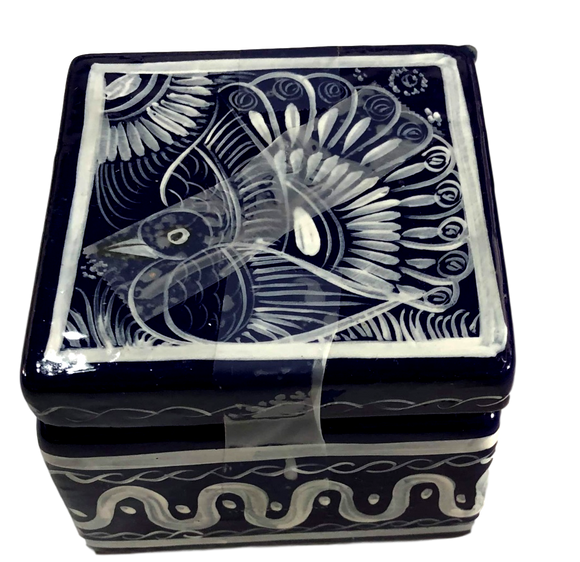 Jewelry Box Naiva Silk Hand-Crafted Skilled Mexico Artist