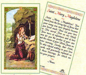 Prayer Card Prayer To Saint Mary Madalene Laminated HC9-106E