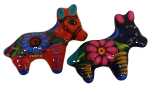 Magnet Donkey Hand-Painted Hand-Crafted Skilled Mexico Artist