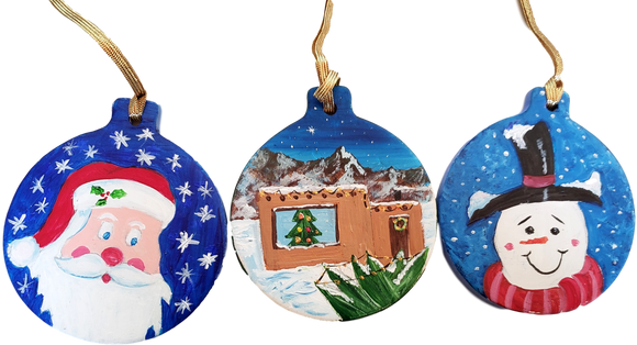 Ornament Christmas Theme Handpainted by Local Artist Ramon Valenzuela