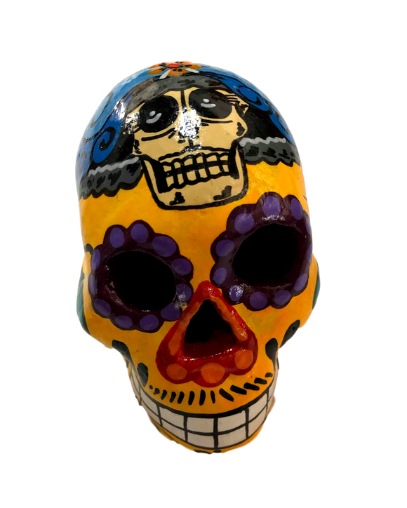 Day of the Dead Skull Ceramics Hand-Painted Gadiz Mexico