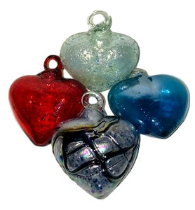 Home Good Glass Ornament Hearts Small