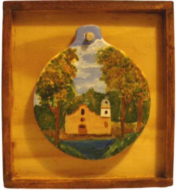 Souvenir Frame Wooden Frame With Ornament Handcrafted By El Paso Artist Ramon Valenzuela