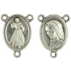Rosary Parts Small Divine Mercy Our Lady of Medjugorje Oval Rosary Center