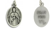 Medallion Saint Martin De Porres Patron Saint of Persons of Mixed Race Pray for Us Italian Silver Oxidized 1 inch