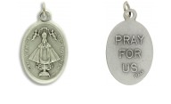 Medal Our Lady of San Juan De Los Lagos Pray for Us Italian Silver Oxidized 1 inch