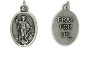 Medallion Saint Bernard of Caliraux Patron Saint of Candlemakers & Beekeepers Pray for Us Italian Silver Oxidized 1 inch