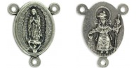 Rosary Parts Our Lady of Guadalupe Divine Nino Center 1/2 inch