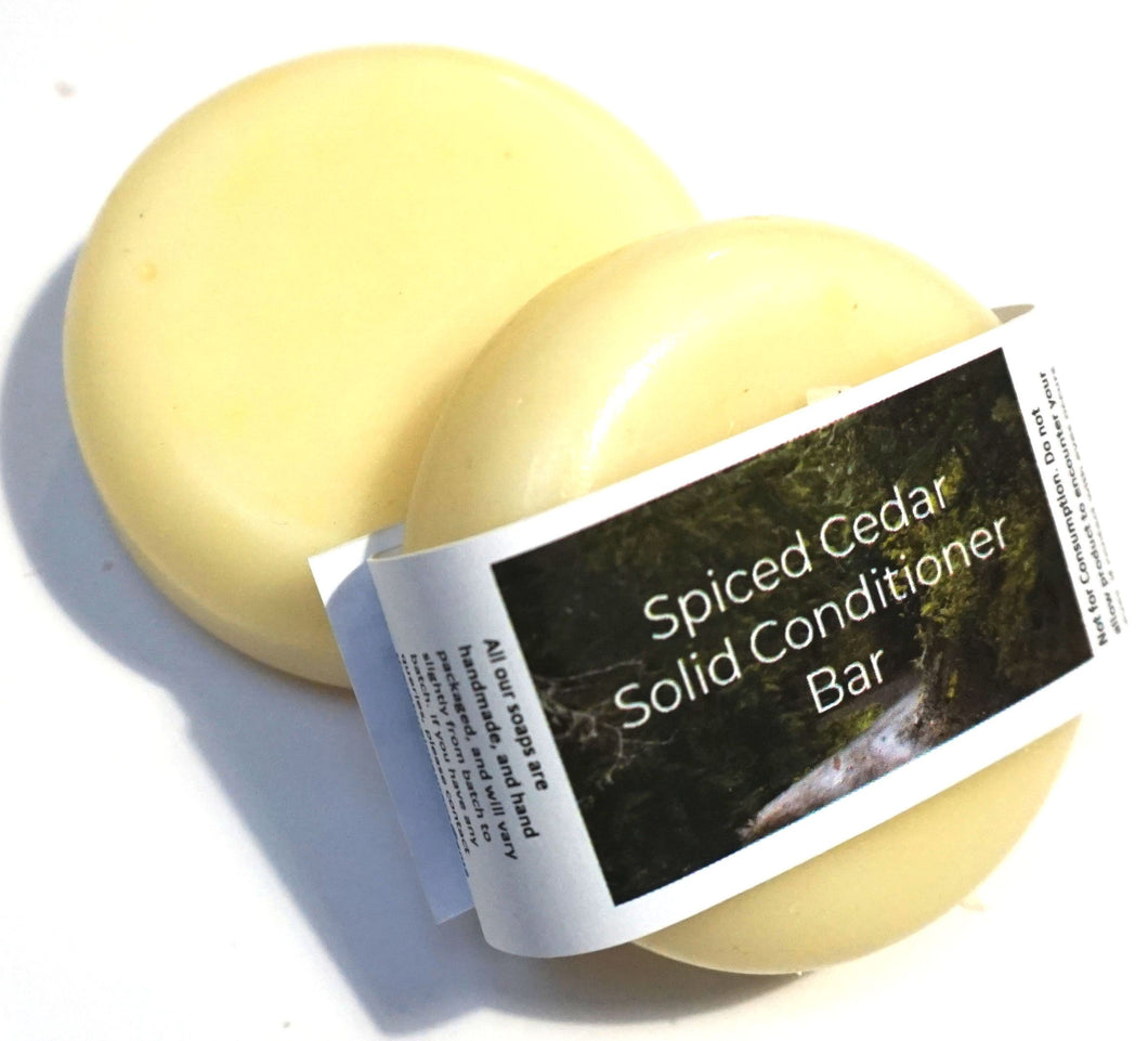 Spiced Cedar , Solid Conditioner - Suitable for all hair types