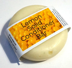 Lemon, Solid Conditioner - Suitable for all hair types