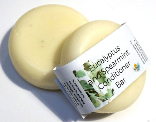 Spearmint and Eucalyptus , Solid Conditioner - Suitable for all hair types