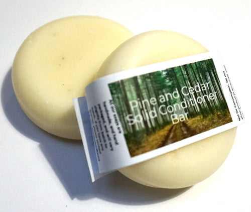 Pine and Cedar Solid Conditioner Bar - Suitable for all hair types