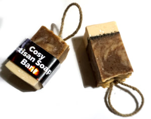 Cosy  Cold Process Soap on a rope