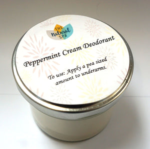 Cream Deodorant - Large Jar - 2 scents available - 215g
