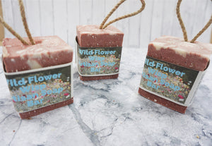 Wildflower Wisp Soap On A Rope - thenaturalspa