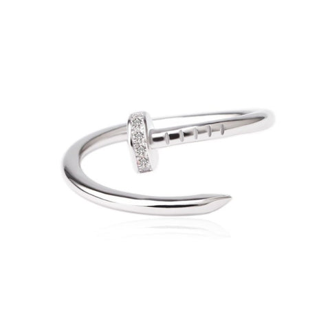 CURVED NAIL RING