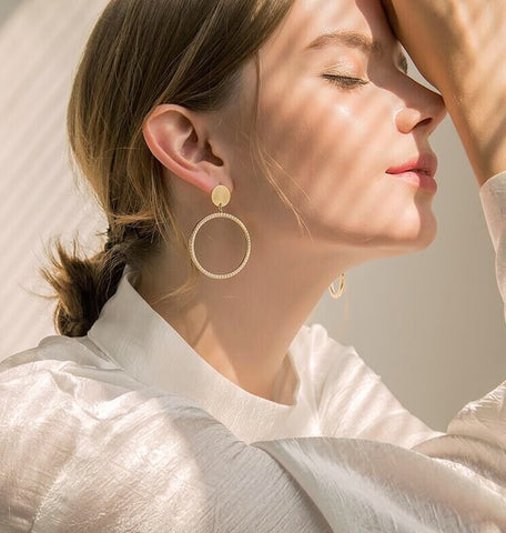 PRISTINE PAVE EARRINGS