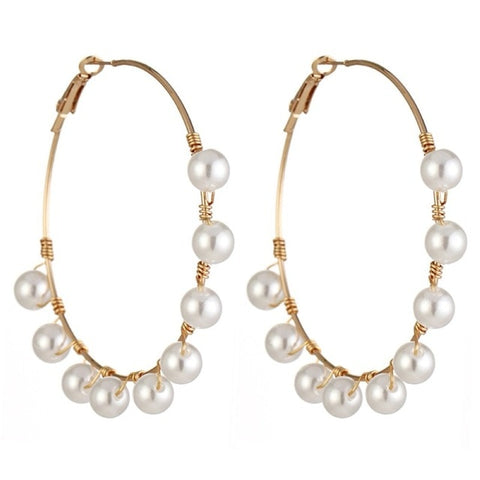Elegant Imitation Pearl Drop Earrings