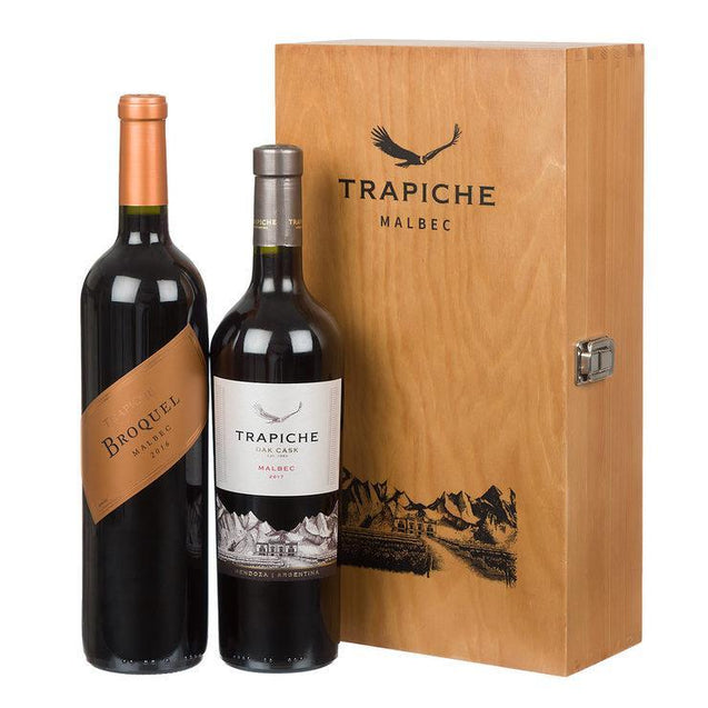 Trapiche Malbec Wine Selection in Wooden Gift Box  2 x 75cl