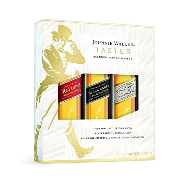 Johnnie Walker Blended Scotch Whisky Exploration Giftpack, 3 x 5cl