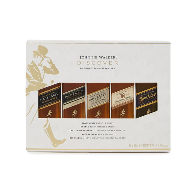 Johnnie Walker Discover Whisky Miniatures Gift Pack
