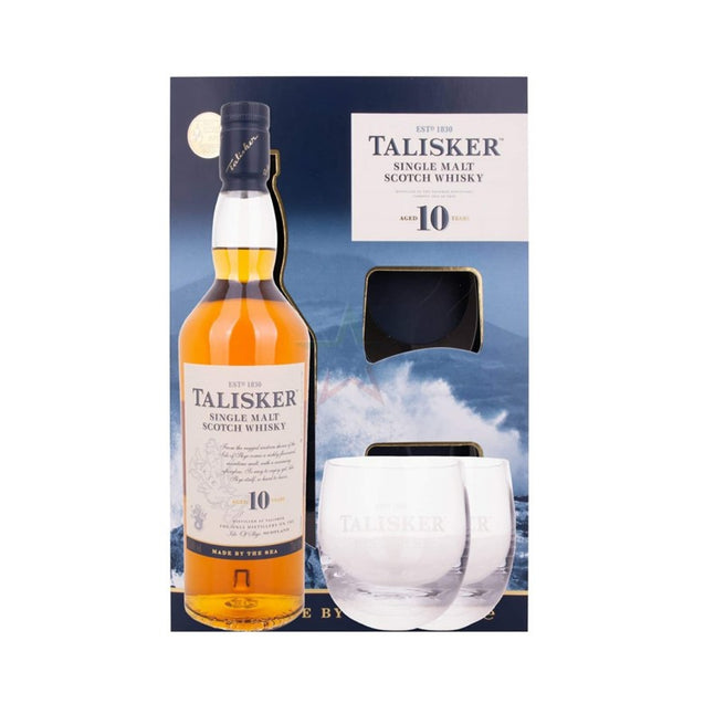 Talisker 10 Years Old Single Malt Scotch Whisky Gift Pack