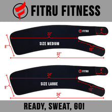 Load image into Gallery viewer, fitru thigh trimmer size infographic