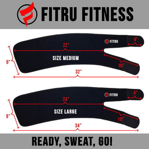 fitru thigh trimmer size infographic