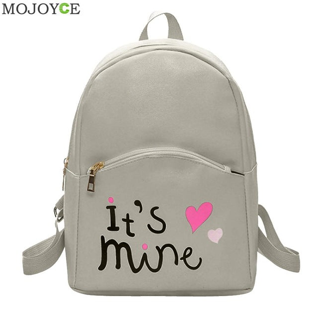 Letter Print Mini PU Leather Backpack – wetravelinstyle.com 9dc142a30f4eb