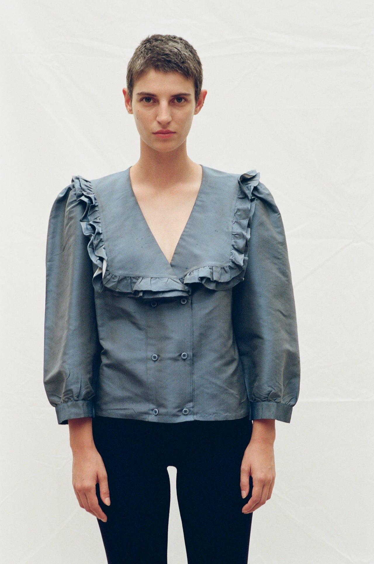 Vienna Blouse Iridescent Blue