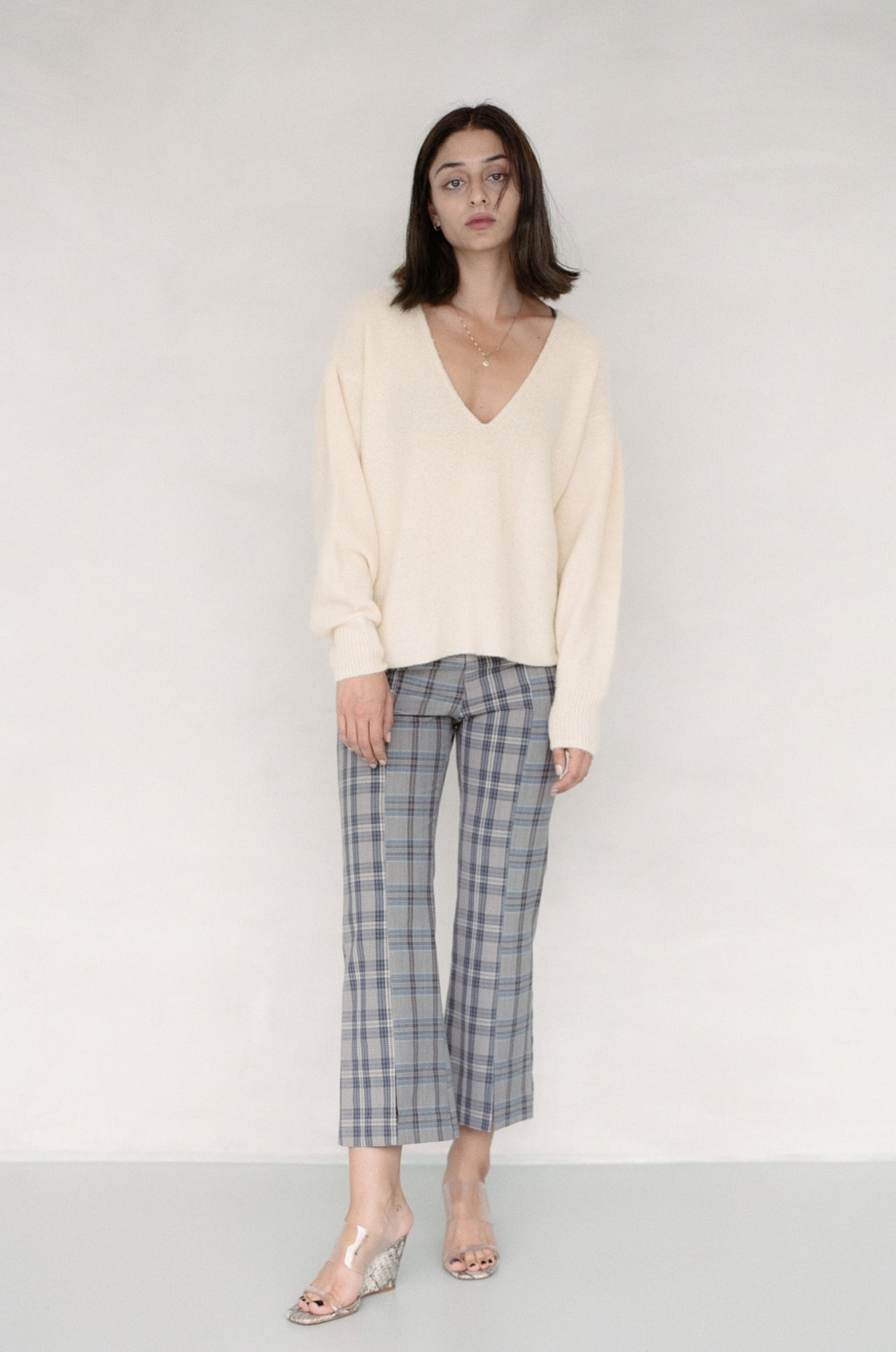 Maggie Pant Mixed Plaid