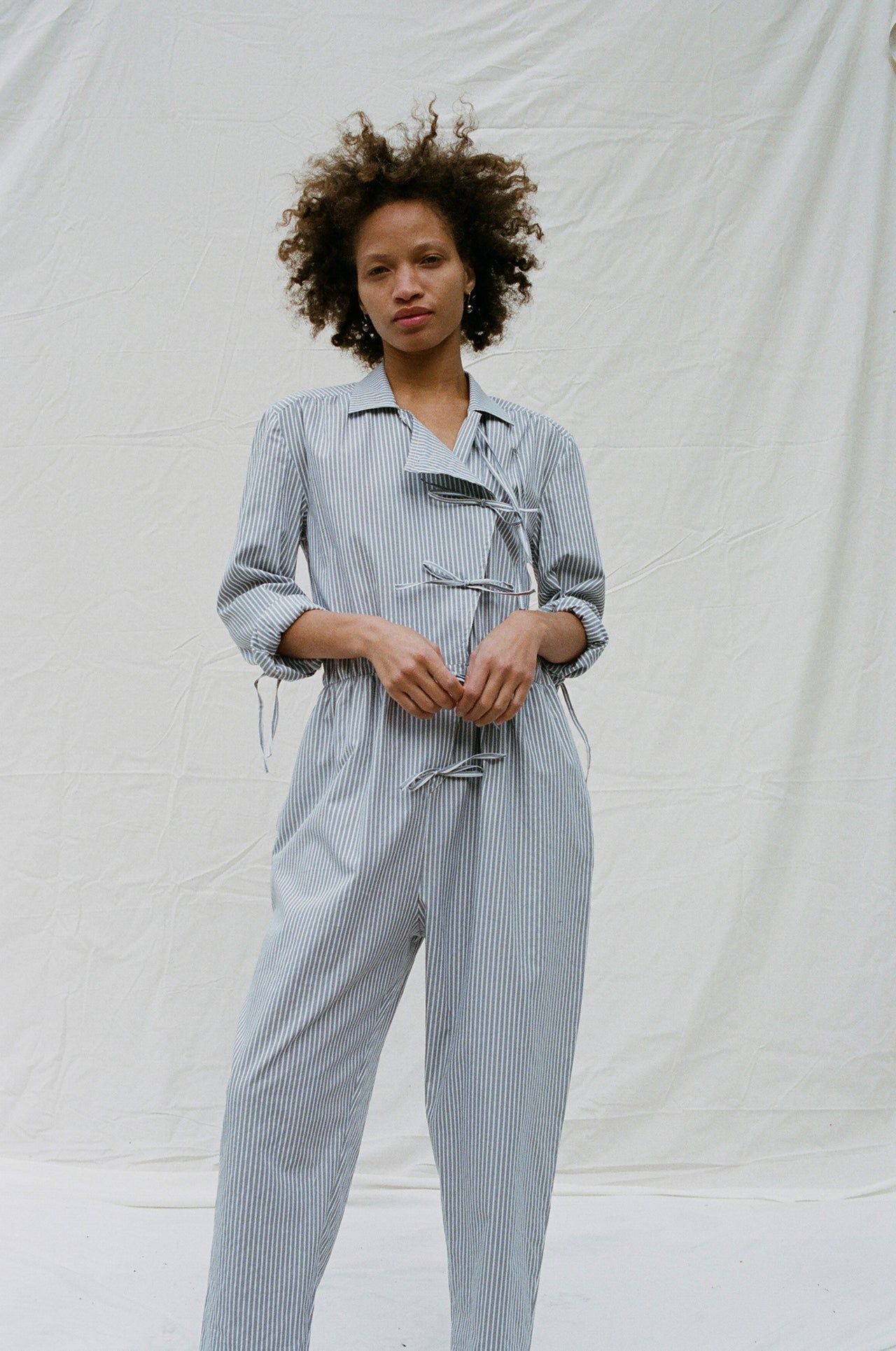 Admiralty Jumpsuit Grey Nautical