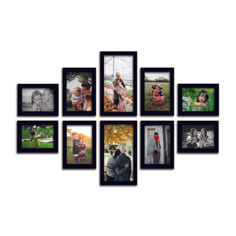 WhatsYourPrint Synthetic Wood Photo Frame (2pc: 6x10 inches, 4Pc: 5x7 inches & 4Pc: 4x6 inches) - WhatsYourPrint