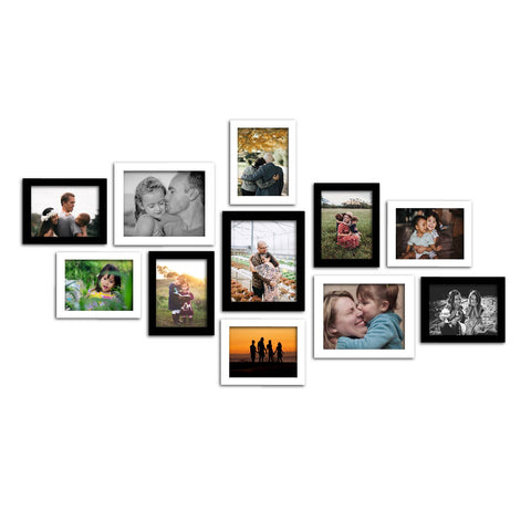 WhatsYourPrint Synthetic Wood Photo Frame (8pc: 6x8 inches & 3Pc: 8x10 inches) - WhatsYourPrint