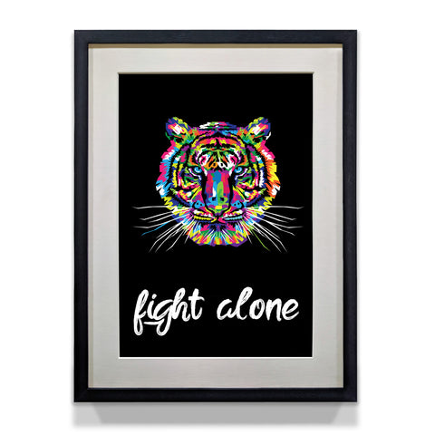 Fight Like A Tiger Motivational for Office Decor and Home Walls - WhatsYourPrint