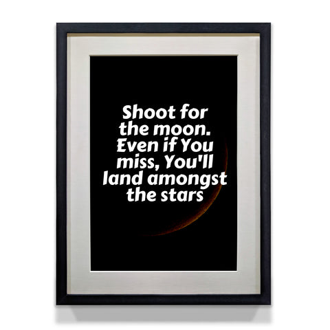 Wall Inspirational Poster Shoot for Moon - WhatsYourPrint