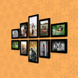 WhatsYourPrint Synthetic Wood Photo Frame Set of 10 Frames