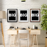 Think Big Inspirational Poster for Home and Office Walls