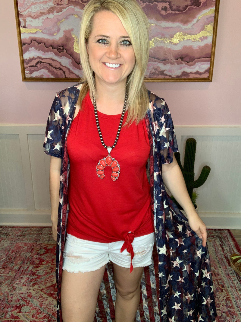 Stars & Stripes Lace Duster