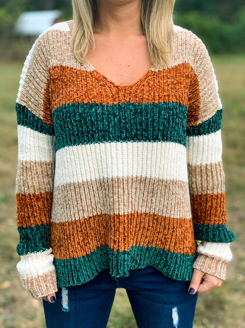 Color Block Autumn Sweater