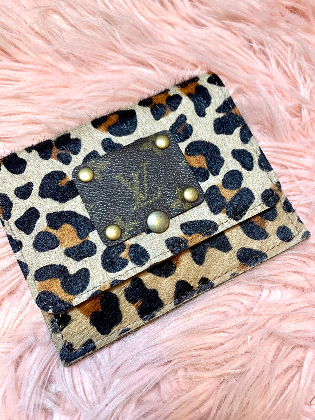 Upcycled Leopard Wallet