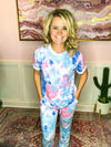 Cotton Candy Blue Tie Dye Lounge Set