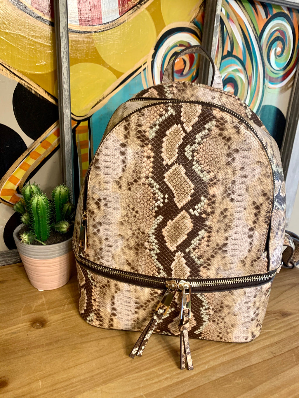 Snakeskin Backpack