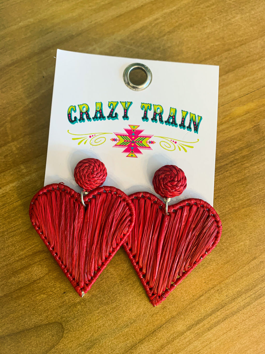 Sweetheart Earrings-Red