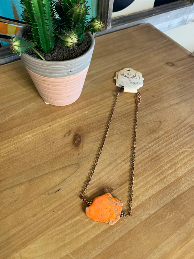 Tangerine Stone Necklace