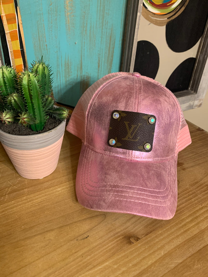 Vintage Pink Upcycled Cap