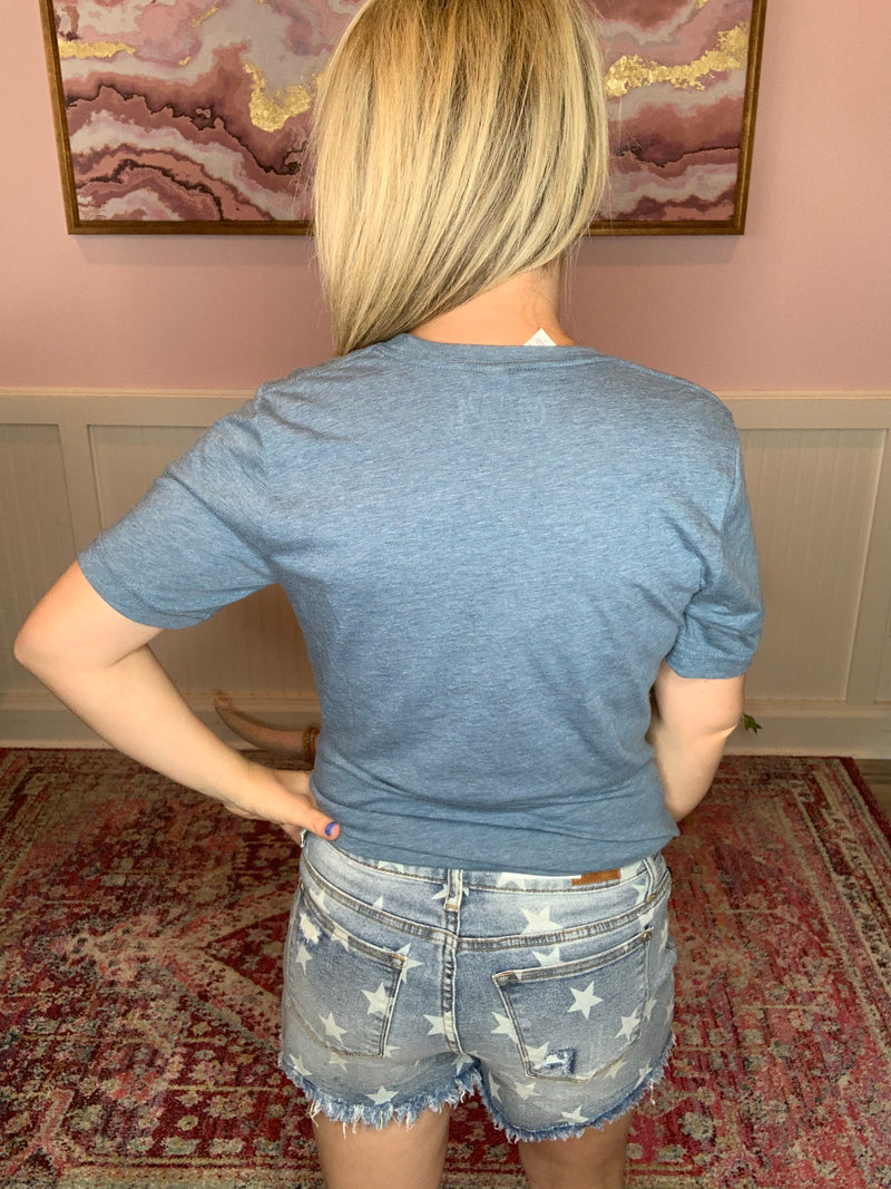 Judy Blue Star Jean Shorts