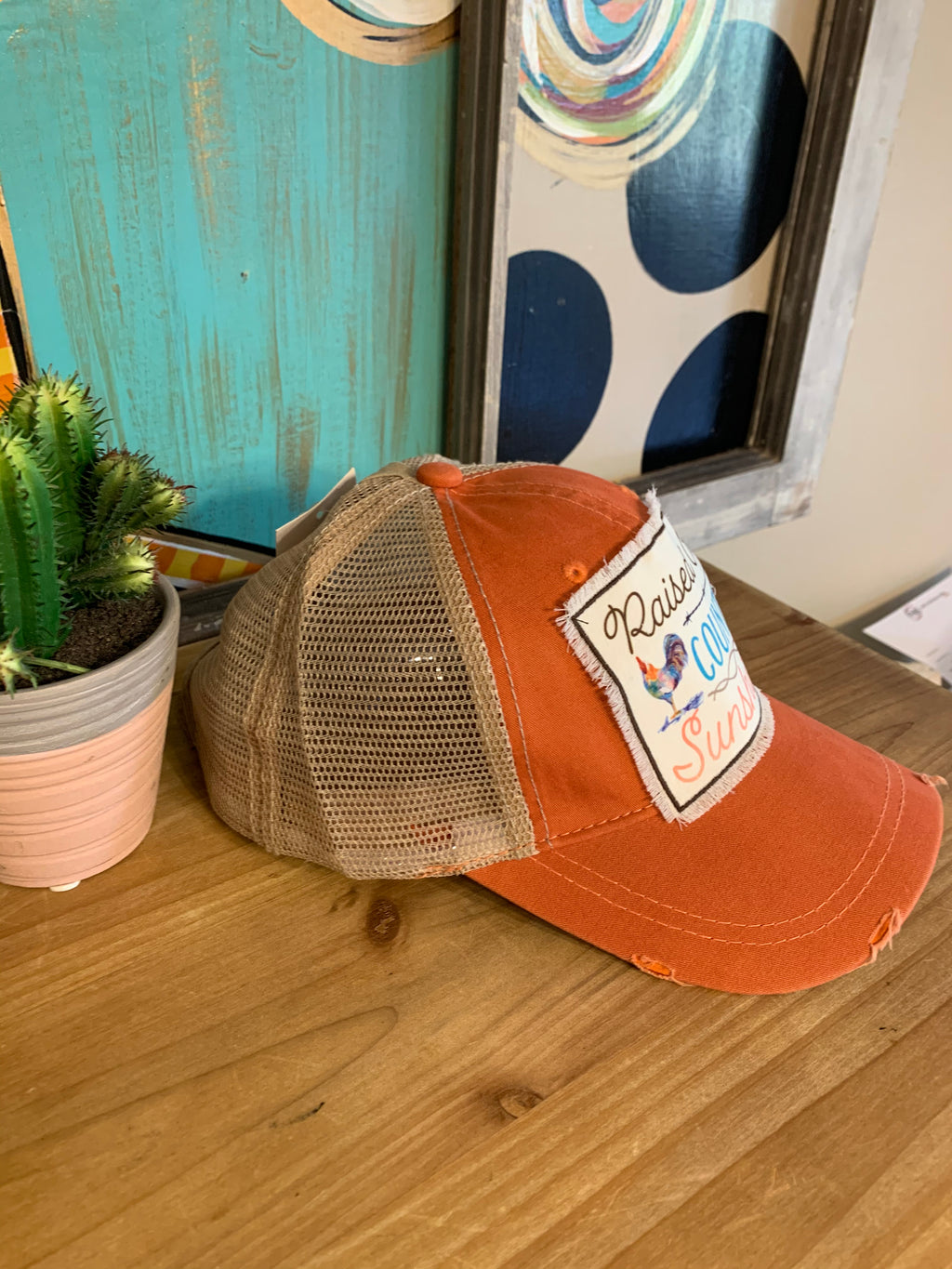 Raised on Country Sunshine Cap-Orange