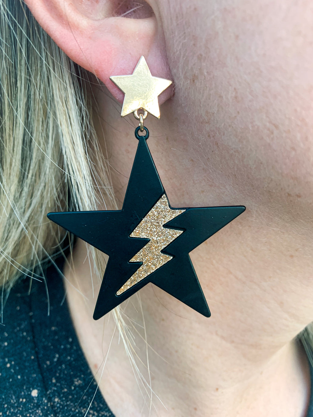 Lightning Bolt Star Earrings